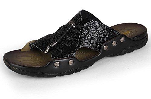 sandali e ciabatte sandali di cuoio degli uomini di estate del merletto di modo personalizzato 1