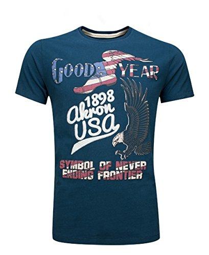 Goodyear Herren T-Shirt Canfield, Farbe:navy;Größe:XXL