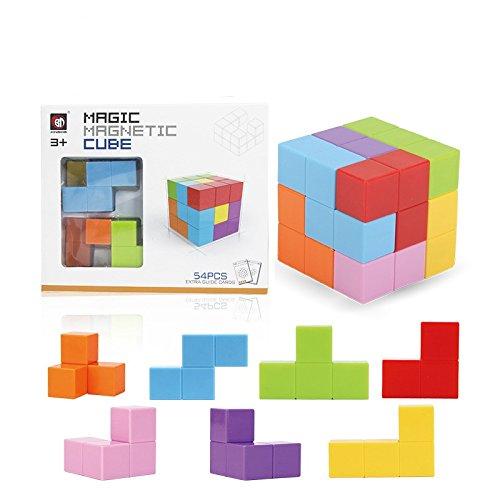 elzeug, magnetisch Cubes, Dass Kann, Bausteine, Bunt, Diverse Formen, sicher und Umweltfreundlich, Pädagogische Werkzeug, 54Creative Montage Wars. ()