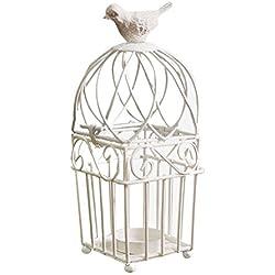 Candelabro en forma de jaula decorativa