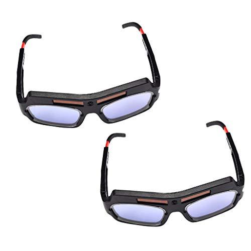 Homyl 2pcs Solar Auto Verdunkelung Schweißen Schutzbrillen Maske