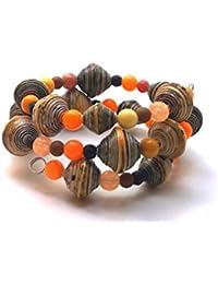 Handcrafted wrap around Bracelet Mardi Gras by Mimi Pinto