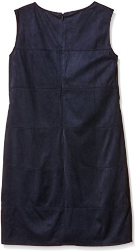 TOM TAILOR Soft Fake Velours Shift Dress/510, Femme Bleu (deep Navy Blue 6910)