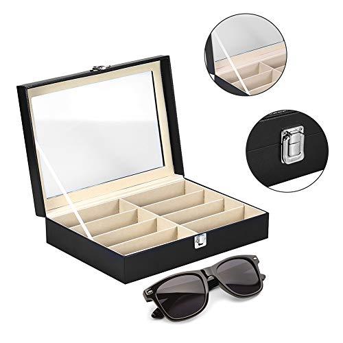 8 Girds Spectacle Aufbewahrungskoffer, Sonnenbrillen-Organisationskoffer für Display und Sammlung