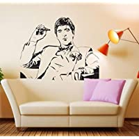 pegatinas de pared y murales Famoso Tony Montana Scarface Movie Room Decor Wall Fashion