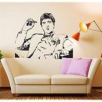 pegatinas de pared y murales Famoso Tony Montana Scarface Movie Room Decor Wall Fashion