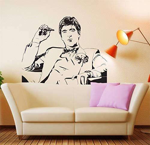 Adesivo murale albero d 'estate famoso tony montana scarface movie room decor wall fashion