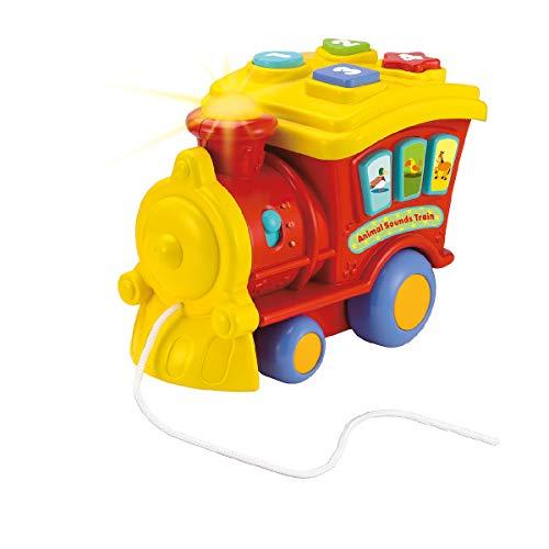 winfun- Tren Sonidos de Animales, Color Amarillo (CPA Toy Group 0677-01)