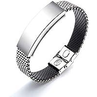 Magnetisches Armband mit Magneten - starres Silikon und perforierter Stahl preisvergleich bei billige-tabletten.eu