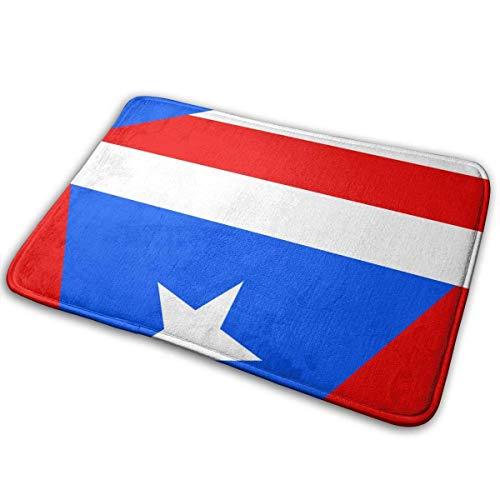 Uosliks Flagge von Puerto Rico Rutschfest maschinenwaschbar fußmatte Bad küche Teppich badmatten 19,2