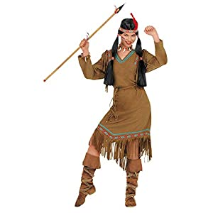 WIDMANN 43364 - Disfraz de india para adulto, para mujer, beige, XXL