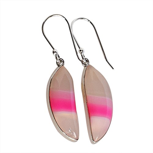 Fabulous Pink Agate Gemstone Designer Earring, 925 for sale  Delivered anywhere in Ireland