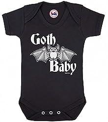 BritTot Komisch Jungen oder Mädchen Body 'Goth Baby' Neuheit Babyweste