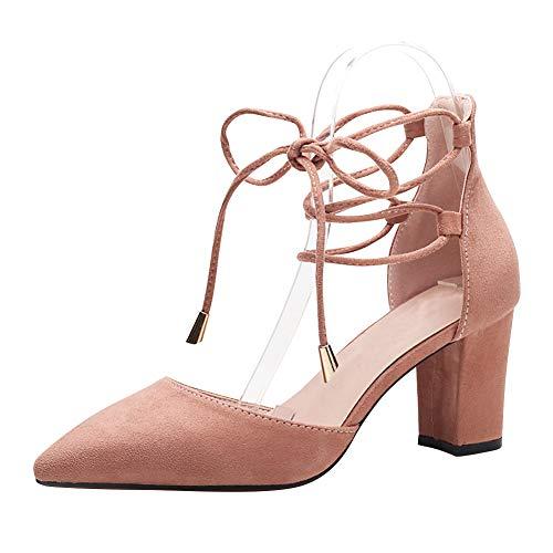 Uirend Mujer Zapatos tacón - Tacón Ancho Punta Cerrada