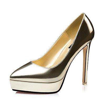 Moda Donna Sandali Sexy donna estate tacchi tacchi in pelle di brevetto Casual Stiletto Heel altri blu / rosso / Argento / Oro / Champagne altri champagne