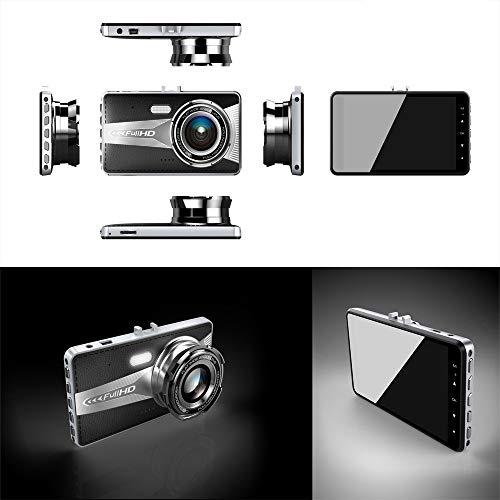 Altsommer 4,0 Zoll IPS HD-Bildschirm Autokamera mit Doppelkamera HD 1080P & 720P,Bewegungserkennun,WDR,Auto Kamera mit 32GB, FCWS-Funktion,Loop-Aufnahme, Nachtsicht, G-Sensor (A)