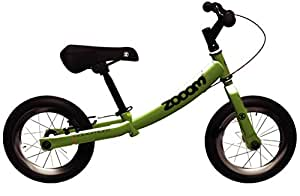 Adventure Zooom Kids Balance Bike - Green, 12 Inch