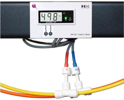 HM Digital dm-2ec Commercial Inline-Dual EC Monitor, 0-9990µS Range, -2%-wie auch die Genauigkeit -