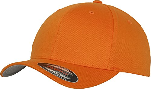 Flexfit Unisex-Adult Wooly Combed 6277 Mütze,  orange), L/XL (Baseball Orange Mütze)