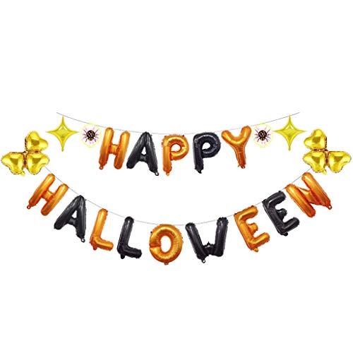 QinMM W Halloween Dekoration,Halloween Party Supplies Festliche Atmosphäre Dekoration Kit