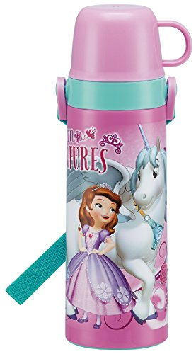 Water Bottle Stainless Steel with Skater 2WAY Cup Bottle 600ml Sofia Disney STGC6N