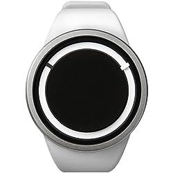 ZIIIRO Eclipse Unisexuhr Weiß Quarz Silikon Z0010WW