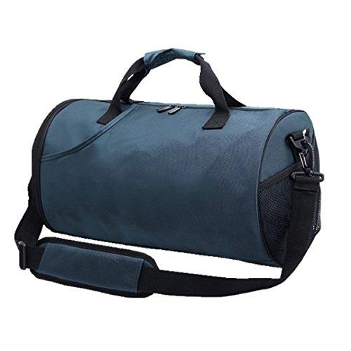 LAIDAYE Schulter-Kurier-Beutel-Taschen Fitness Sporttasche Fitnesstasche Große Kapazität Handtasche Blue