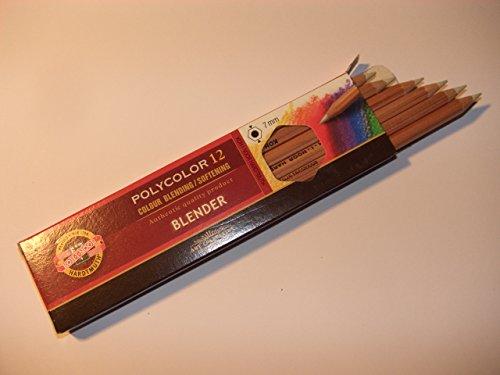 R-K1000-12 - HIER 12ER PACK - Polycolor Koh-I-Noor Mischstift - Blender, Spezialstift für Wischtechniken