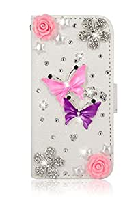 3D iloveyou lizi leather wallet card flip diamond hard Case cover for iphone5/5g/5s