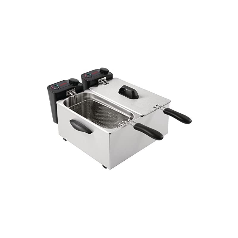 Caterlite Light Duty Fryer with Two 3.5L Tanks and Removable Inner Pot 2 x 2Kw