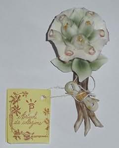 Idea bomboniera: mazzetto di mughetto in porcellana ideali per bomboniere e composizioni. Lunghezza 7cm