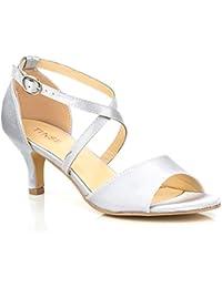 436fdc4d927 Amazon.co.uk  Kitten Heel - Sandals   Women s Shoes  Shoes   Bags