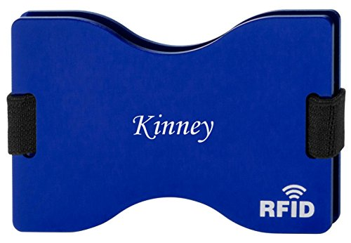 <span class='b_prefix'></span> Personalised RFID blocking card holder together with engraved name: Kinney (first name/surname/nickname)