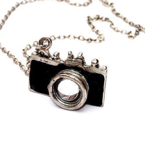 Preisvergleich Produktbild Kamera Halskette mit Fotoapparat - ca. 70cm lange Kette - Spiegelreflex Anhänger schwarz DSLR