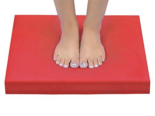 Iso Trade Balance Pad Sitzkissen Gleichgewichtstrainer Balancekissen Koordination Matte #4079, Farbe:Rot