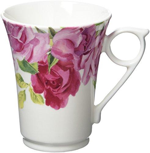 KEW GARDENS Creative-Tops-Tasse mit Tiermotiv, Knochenporzellan, Southbourne Rose - White, 11 x 12 x 9 cm White Rose Tasse