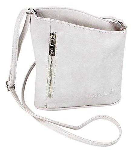 en Damen Damentasche Handtasche Schultertasche Umhängetasche Tasche klein Crossbody Bag weiß (3107) ()
