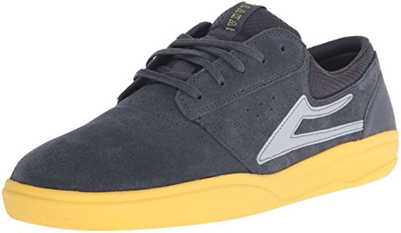 Lakai Herren Skateboardschuhe Grau Grey/Yellow Suede  Billig und erschwinglich Im Verkauf