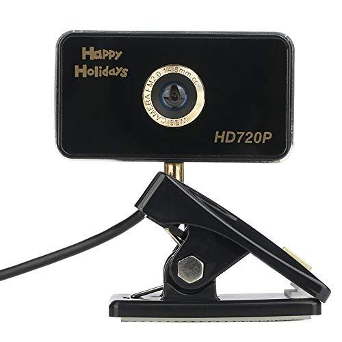 iHome Cámara de Ordenador, portátil USB HD Webcam 720P/1080P Controlador Libre cámara Industrial Pantalla panorámica videollamada y grabación de Escritorio o portátil Webcam, Color Negro