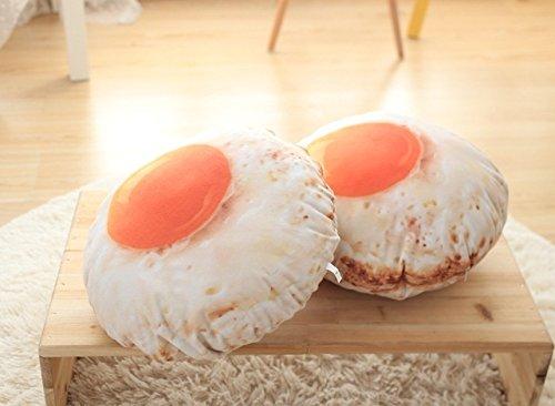 exoh 3D Fried Egg Form Kissen Stuhl Rückenstütze Sofa Kissen