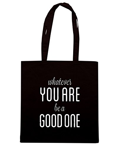 T-Shirtshock - Borsa Shopping CIT0014 Abraham Lincoln Whatever you are be a good one Nero