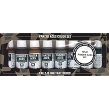 Vallejo Model Color Panzer Aces nº 1 de acrílico Pintura Set - Surtido de Colores (paquete de 8)