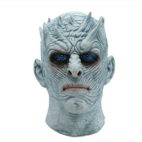 Für Queen Kostüm Thrones Of Erwachsenen - YAX Masken Movie Game Thrones Night King Maske Halloween Realistische Scary Kostüm Latex Party Maske Erwachsene Zombie Requisiten