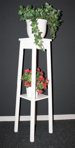 floristikvergleich.de Blumentisch Blumenhocker Blumenständer 100 – Holz massiv weiß