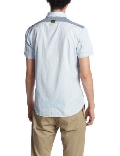 G-Star Herren Freizeit-Hemd Blau - Bleu (Laundry Blue)