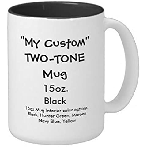 My Custom TwoTone Taza 11oz interior de color negro
