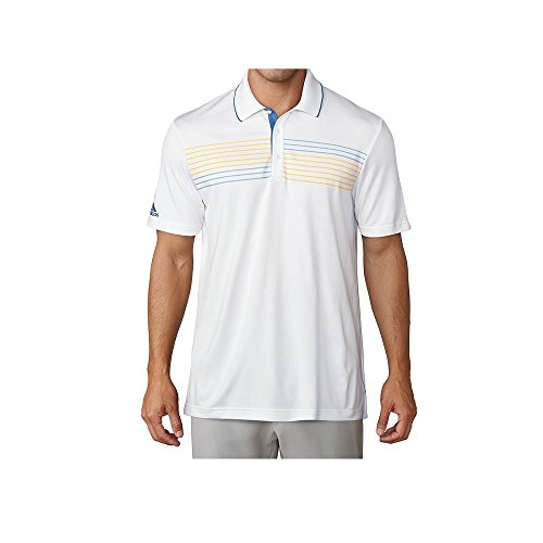 Adidas Golf 2018 Textured Tipped Golf Polo Shirt Mens Performance Top