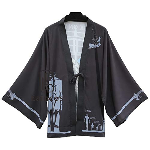 Kostüm Scouting Legion - DuHLi Anime Angriff Auf Titan Shingeki kein Kyojin Scouting Legion Print Kimono Cosplay Halloween Party Kostüm Mantel Haori Chiffon Mantel,OneSize