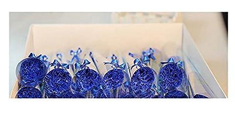 Œillets Unique Savon Bouquet Valentine 's Jour Mother' s Jour Creative Petits cadeaux, bleu, 5 pièces