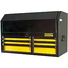 Stanley FatMax Aufsatz (für Werkstattwagen, mit 6 Schubladen, mit Zentralverriegelung, Schubladen-Dämpfer für sanftes Schließen, Aluminium-Griffe mit Endkappen, rutschfeste Gummimatten) FMHT0-74028